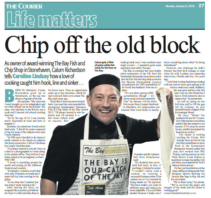 chip off old block press clipping