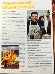 10 questions as reported in National Federation of Fish Friers