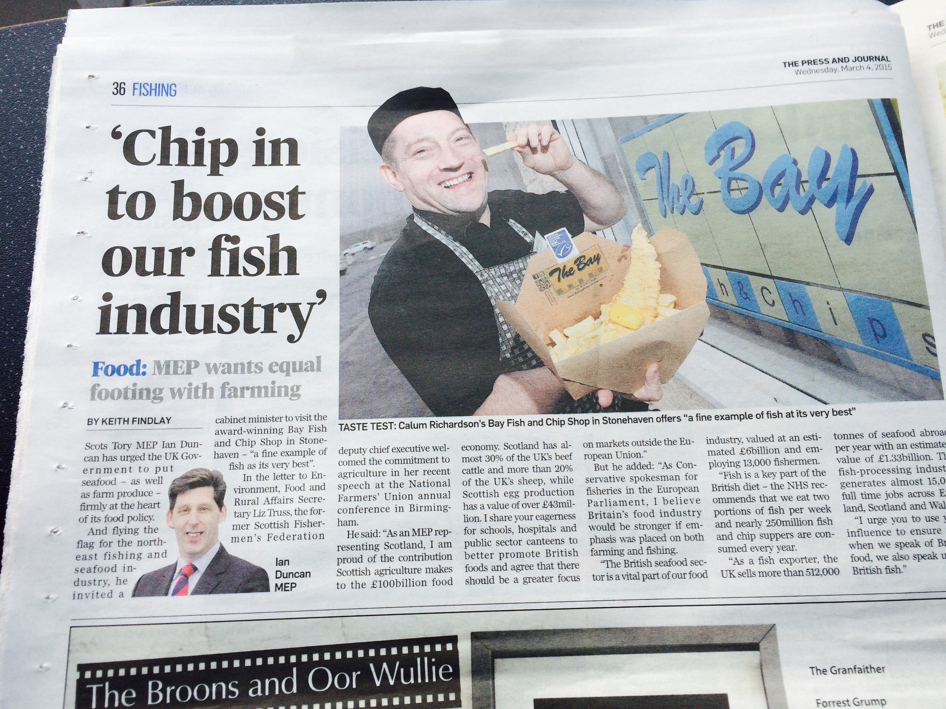 Chip in to boost our fish industry