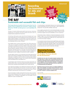 Sustainable and Successful Fish and Chips
