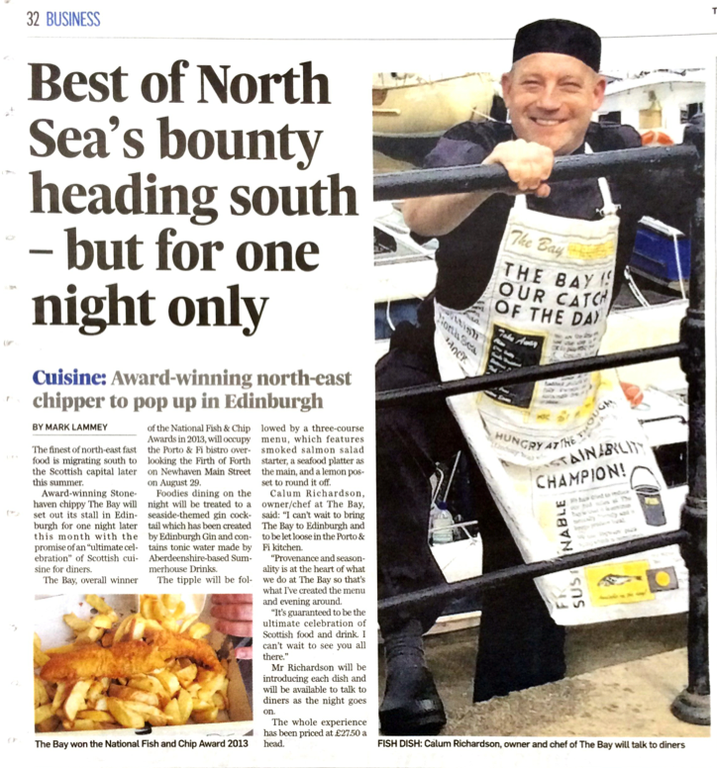 Best of North Sea's bounty heading south
