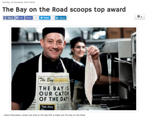 The Bay on the Road Scoops Top Award