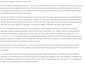 Sustainable Restaurant Association - Taking sustainable fish on the road