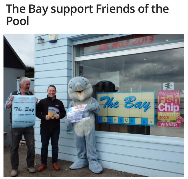 Mearns Leader: The Bay Supports Friends of the Pool