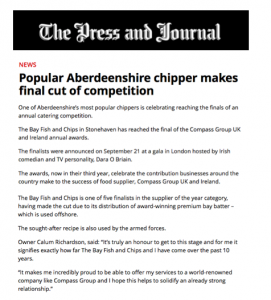 Popular Aberdeenshire chipper makes final cut of competition