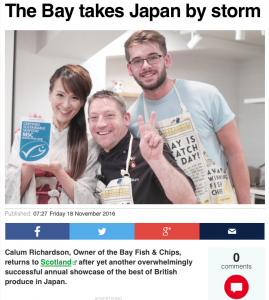The Bay Fish & Chips has taken Japan by storm