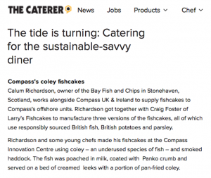 Catering for the sustainable-savvy diner as reported in The Caterer.