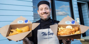Calum, the bay fish and chips